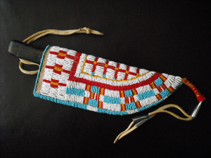 Beaded knife sheath made by Craig